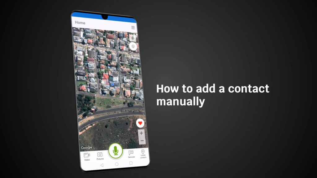 How to add a contact manually